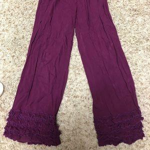 Pants - Baik baik ruffles palazzo pants